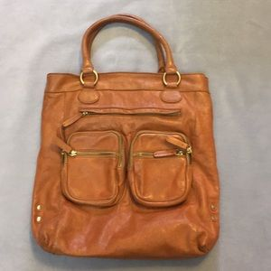 JCREW Brown leather tote